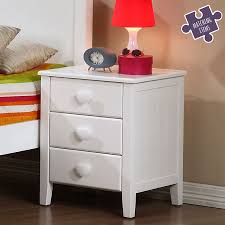 girls white bedside table holly children s bedside table