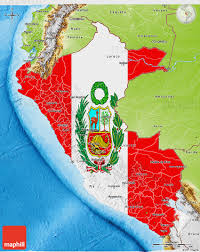 peru on map flag 3d map of peru physical outside