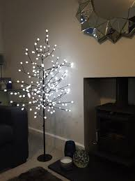 kingfisher btwhite led berry tree transparent 5 ft co uk
