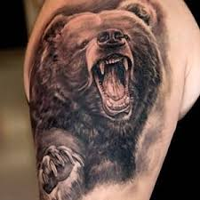 bear tattoo meanings custom tattoo design