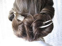 hair fork wearable taxidermy deer antler horn bone steunk hair