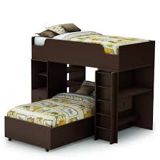 Twin Over Twin Loft Bed by South Shore Logik 4 Pcs Twin Over Twin Loft Bed In Chocolate Ss3359a4