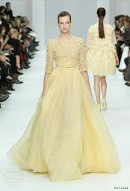 yellow wedding dress elie saab 2012 couture wedding inspirasi