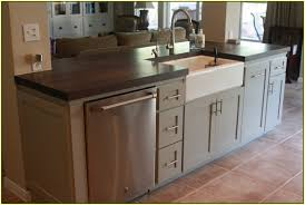 kitchen sink in island kitchen island with sink and dishwasher home design ideas plans 17