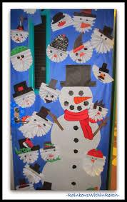 Backyards Decorateddoorsnow Winter Door Decoration Classroom