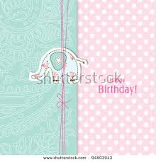 Doodle Birthday Card Birthday Card Nice Greeting Card Template Cute Simple Stock Vector