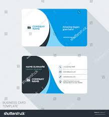 Flat Design Business Card Creative Clean Corporate Business Card Template Stock Vector