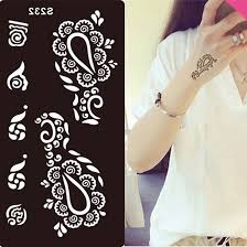 stencils face body painting henna tattoo paste template mehndi