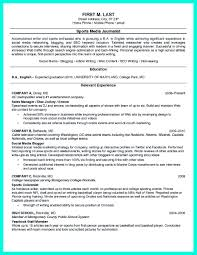 Social Media Resume Template The Perfect College Resume Template To Get A Job