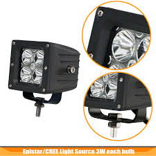 2pc 20w 3 4inch cree led light bar for off road truck one to two