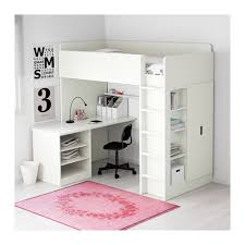 Loft Bed Without Desk Stuva Loft Bed With 2 Shelves 2 Doors White Ikea