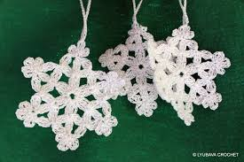 christmas handmade decorations crochet snowflake pattern