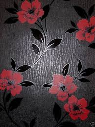 black and white wallpaper ebay designer feature wall wallpaper black red flowers grace 13901 in