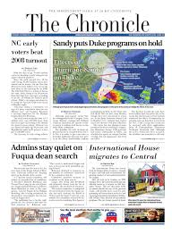 oct 30 2012 issue of the chronicle by duke chronicle issuu