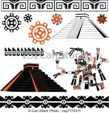 vector clip of mayan ornaments vector of mayan ornaments
