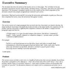 9 free sample executive summary templates u2013 printable samples