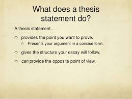 what is the thesis thesis statements expanded version