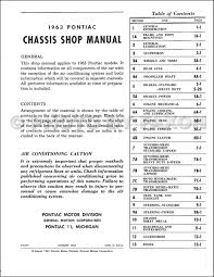 1963 pontiac repair shop manual reprint catalina star chief