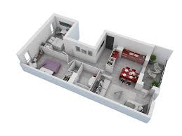 Floor Plan With Garage by 25 More 2 Bedroom 3d Floor Plans