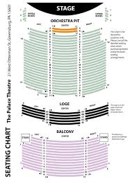 theater floor plan seating chart u2013 the palace theatre