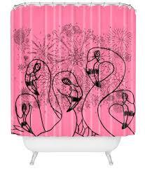 9 retro shower curtains including four flamingos from deny