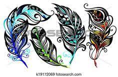 tribal peacock feather design tatoo ideas