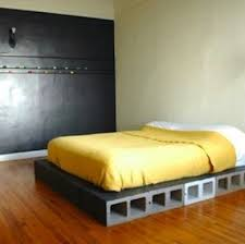 Build A Platform Bed With Cinder Blocks by Diy Beds 15 You Can Make Yourself Bob Vila