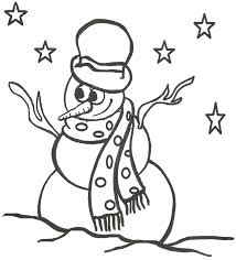 snowman color page christmas coloring pages and build your own