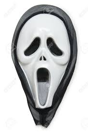horror mask isolated on the white stock photo picture and royalty