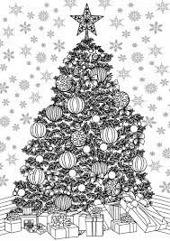 christmas tree coloring pages adults 2017 dr odd