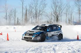 nissan leaf in snow learning to drive a subaru wrx sti rally car in the snow