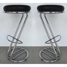 italian mid century modern chrome bar stools a pair chairish