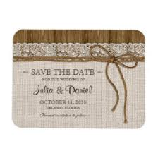 rustic save the date magnets lace save the date refrigerator magnets zazzle