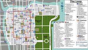 chicago map streets chicago loop wikitravel