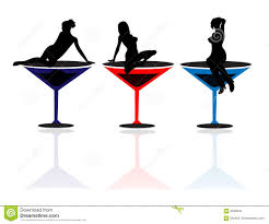 martini silhouette girls and martini glasses stock photos image 4338943