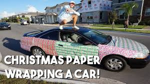 car wrapping paper christmas paper wrapping a car