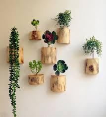 Wood Home Decor Wood Block Flower Vases Wall Flower Pots Planters Home Decoration