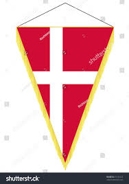 vector pennant national flag denmark stock vector 61143127