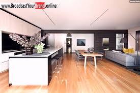 wohnzimmer küche esszimmer in einem offen holzboden youtube