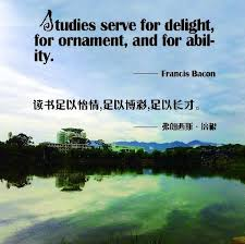 studies serve for delight for ornament and for ability