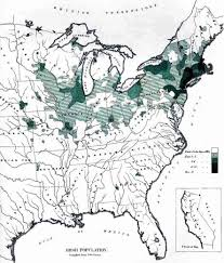 New York In Usa Map by Irish Immigration To America How And Where Irish Immigrants To