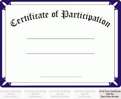 printable certificate of participation certificate of