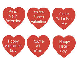 pencil valentine with free heart printables organize and