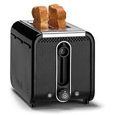 Duralit Toaster Dualit 26410 2 Slot Studio Toaster 1200 Watt Black Amazon Co Uk