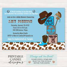 cowboy baby shower invitation cowboy baby shower western