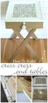 How To Build End Tables by How To Build Criss Cross End Tables Tutorial Artsy Rule