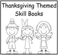 thanksgiving themed printable skill books 2 00 file folder