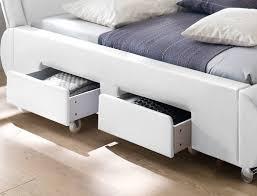 Schlafzimmer Bett Mit Matratze Polsterbett Lando Bett 180x200 Cm Weiß 4 Schubkasten Doppelbett