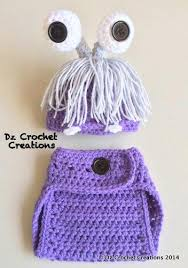 Infant Monsters Halloween Costumes Crochet Photo Prop Monster Crochet Monster Handmadebydz Photo