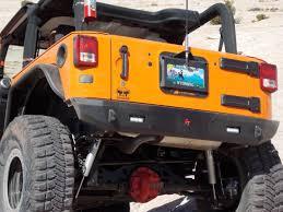 jeep aftermarket bumpers jk rear bumper guardian bare w lights 07 pres wrangler jk 2 4 dr